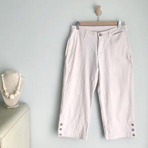 PATAGONIA Organic Cotton Hemp Ivory Capri Pants 4